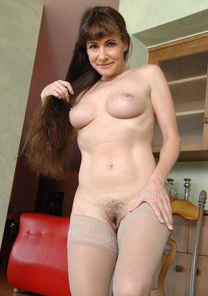 Stockings And Hairy Pussy